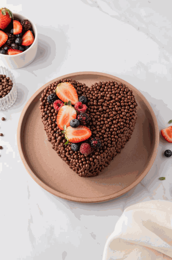 MINI TORTA DE CORAZÓN CHOCOLATE
